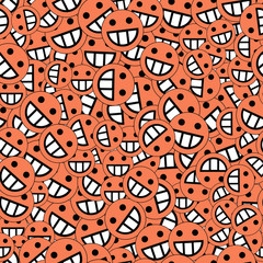 background of emoticons of red color