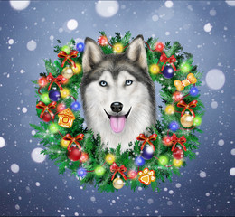 New Year themed dog - symbol of the year