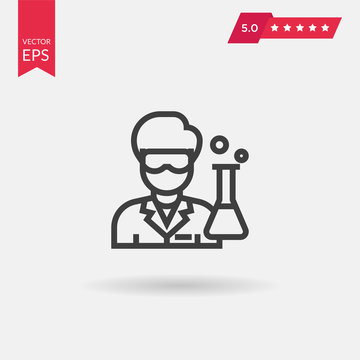 Scientist Icon. Professional, pixel perfect icons optimized for