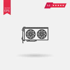 Graphics Card Icon. Professional, pixel perfect icons optimized