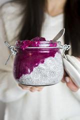 Pink Vegan Paleo Chia Pudding