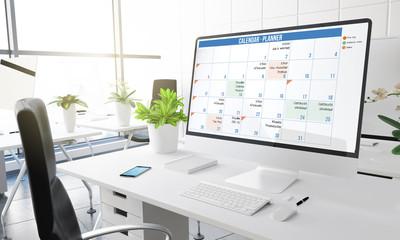computer office calendar