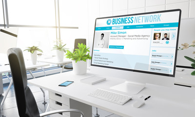 computer office business network