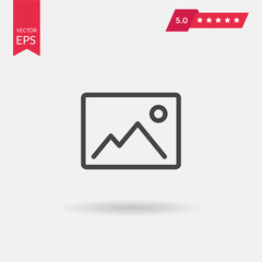 Photo Icon. Professional, pixel perfect icons optimized for both