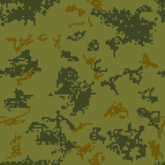 Seamless camouflage of pixel pattern