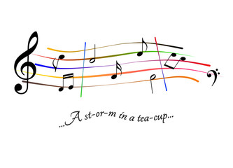 Musical score A storm in a teacup
