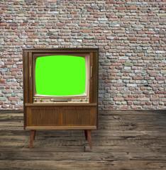 Fernseher mit green screen