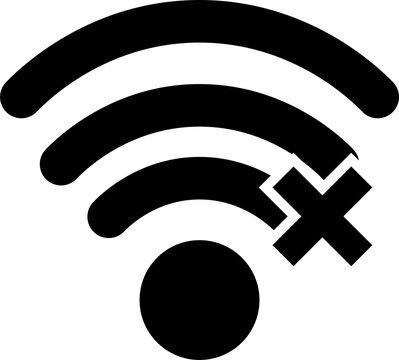 Wifi error vector icon, offline wireless signal symbol. Simple illustration for web or mobile app