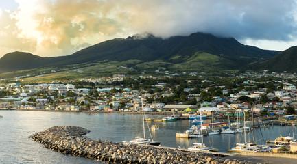 Panorama of Basseterre, St Kitts