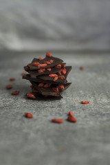 Super food goij berry raw organic chocolate