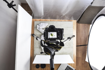 Food Photography Set Up on a Tripod (behind the scene)