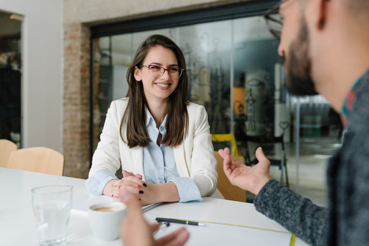 Explaining job duties to potential candidate for a job post