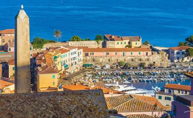 Wall Mural - Old town and harbor Portoferraio, Elba island, Italy.