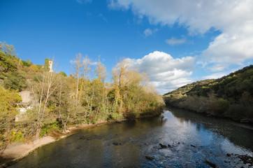 Ebro river in Burgos province, Castilla y Leon, Spain.