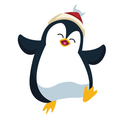Penguin christmas cartoon