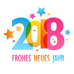 FROHES NEUES JAHR 2018 Karte
