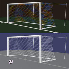 Soccer goal with net.