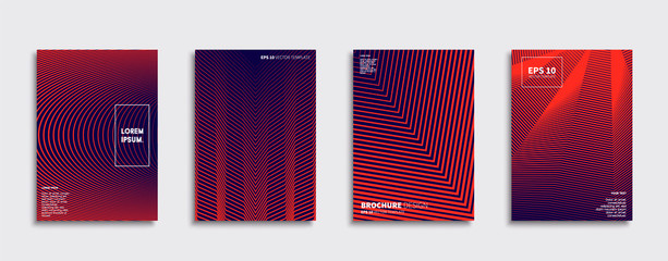 Vector cover designs. Future Poster template. Smartphone modern background set. Fototapete
