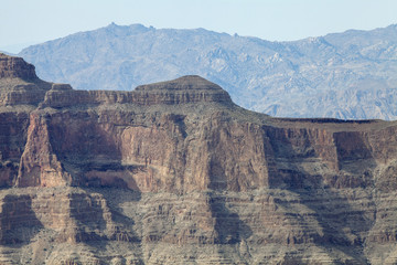 The Canyon walls of the Grand Canyon in Arizona