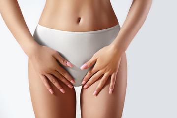 Spa, wellness. Brazilian Bikini Depilation, Epilation. Beautiful sexy hips. Intimate plastic surgery. Sugaring treatment