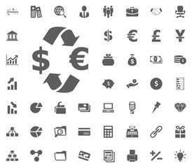Currency exchange icon. money and finance icon set, vector icon