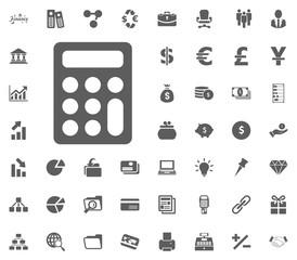 Calculator icon. money and finance icon set, vector icon