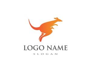 kangaroo Logo Template vector illustration