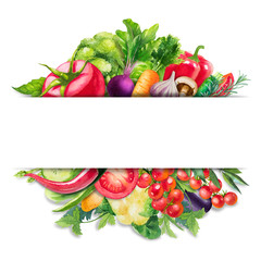 Watercolor Vegetables Banner