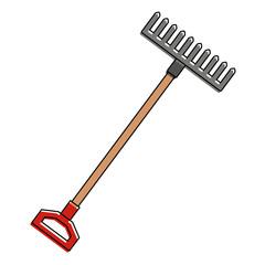 gardening rake isolated icon vector illustration design