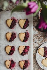 Heart chocolate cookies