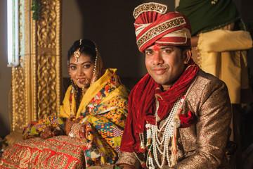 Bride and Groom at a Hindu Wedding