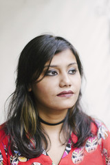 portrait of young indian woman