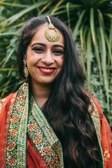 Beautiful Indian woman wearing a sari