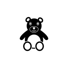 Teddy bear plush toy icon. Children toys Icon. Premium quality graphic design. Signs, symbols collection, simple icon for websites, web design, mobile app
