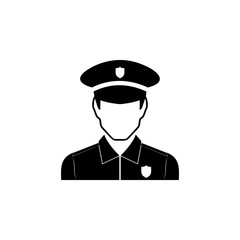 Police Icon. Characters of professions Icon. Premium quality graphic design. Signs, symbols collection, simple icon for websites, web design, mobile app