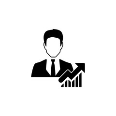 Businessman avatar icon. Characters of professions Icon. Premium quality graphic design. Signs, symbols collection, simple icon for websites, web design, mobile app