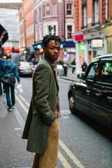 Portrait of a cool tattooed black man