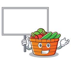 Bring board fruit basket character cartoon