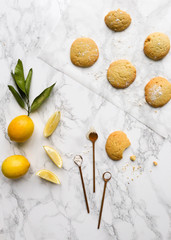 Lemon cookies with ingredients
