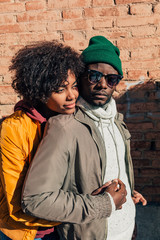 Portrait of couple in the street