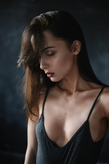 portrait of sexy brunette