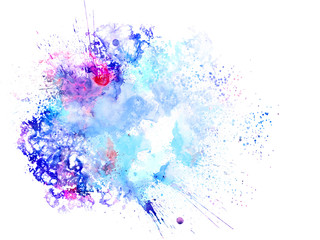 Fotobehang Bloemen vrouw Abstract beautiful Colorful watercolor painting background, Colorful brush background.