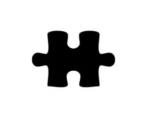 Black Puzzle Illustration Vector Symbol Silhouette