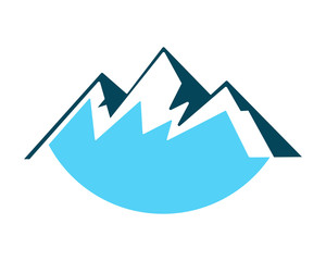 blue mountain hill tip summit peak alps image icon vector