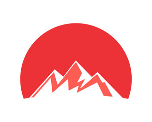red mountain hill tip summit peak alps image icon vector