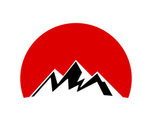 mountain icon hill tip summit peak alps image icon vector