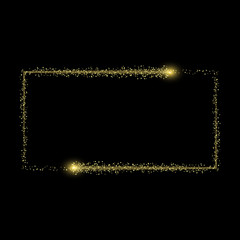 Vector light effect. golden comet with glowing tail of shining stardust sparkles, Gold glittering star dust