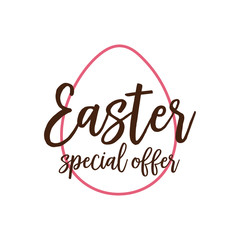 Easter Special Offer Inscription in Egg