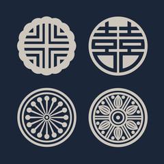 한국 전통 문양아이콘