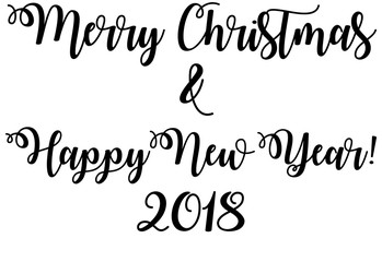 Happy Holidays Christmas Vector Illustration Card Merry Christmas calligraphic lettering design card template. Creative typography for holiday greetings.